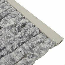 Türvorhang Flauschvorhang 90x200cm Insektenschutz Campingvorhang Wohnwagen, Farbe:silber