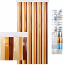 Türvorhang PVC beige - braun - dunkelbraun 90 x 200 cm
