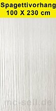 Türvorhang PVC Spaghetti weiß 100x230cm