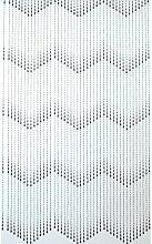 Türvorhang PVC Tropfen, Perlen naturell-schwarz 90