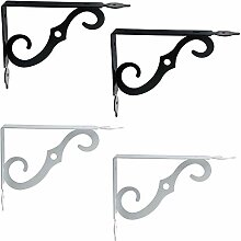 Tulead Eisenregal-Halterungen, dekorative L-Form,