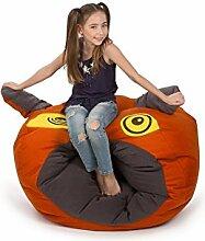 TULI OBLUDÖÖ Kinder Sitzsack Polyester 100 x 85 x 60 400l Orange, Einschichtig - Sitzsäcke - Bodenkissen Sitzkissen Kissen Sessel Sitzsofa