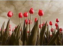 Tulips, Grafikdruck East Urban Home Größe: 64,2