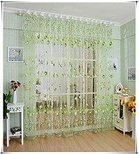 Tulpe Lichtdurchlässigkeit unelastisch Polyester vertikale Jalousien Tüll Offsetdruck Vorhänge Fenster screening-Schürze, 100 * 200cm, 1 Tafel , green