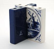 Tulpenvase Fliese mit Mühle Weiß-Blau von Royal