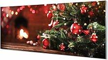 Tulup Glas Bild 125x50cm Wandbild Weihnachten