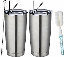 TUMZAK Edelstahl-Kaffeebecher mit Deckel und
