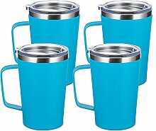 TUMZAK Kaffeebecher aus Edelstahl, doppelwandig,