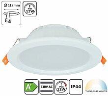 Tunable-White LED Einbaustrahler CCT 3000-6000K,