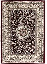 Tunisia - Tunis Rot Teppich Teppiche Modern Designer Flachflor Kurzflor Orientalisch Klassisch, Größe:80cm x 150cm