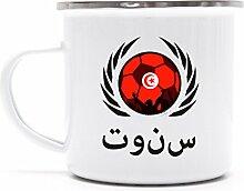 Tunisia Wappen Fussball WM Fanfest Metalltasse