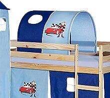 Tunnel für Hochbett AUTO Rutschbett Spielbett Kinderbett in hellblau/dunkelblau