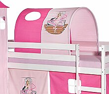 Tunnel für Hochbett BALLERINA Rutschbett Spielbett Kinderbett in pink/rosa