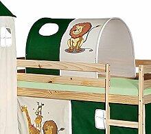 Tunnel für Hochbett DSCHUNGEL Rutschbett Spielbett Kinderbett in grün/beige