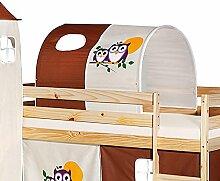 Tunnel für Hochbett EULE Rutschbett Spielbett Kinderbett in braun/beige