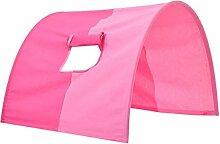 Tunnel für hochbett Tunnel zu Hoch- und Etagenbetten, Tunnel Bogen Zelt Versteck Höhle Bett Zelt Bettdach Spieltunnel für Kinderbett 100 % Baumwolle Etagenbett Hochbett Spielbett Farbe: Rosa / Pink