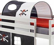 Tunnel MAX für Hochbett Rutschbett Spielbett Kinderbett, in schwarz/weiß PIRAT