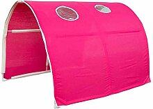 Tunnel Spieltunnel für Hochbett rot/pink