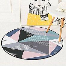 TUOXIE Teppich Geometrische Runde Teppich Für