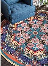TUOXIE Teppich Mandala Runde Teppiche Für