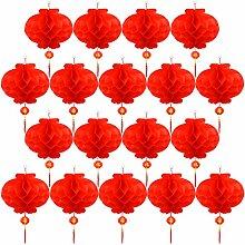 Tupa 20 Stück rote chinesische Laternen,