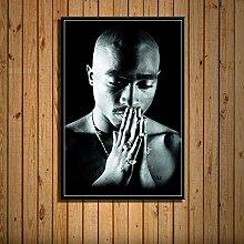 Tupac Rap Musik Rapper Plakate und Drucke Leinwand