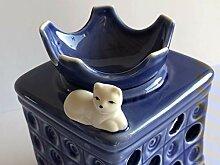 TUPAGo Duftlampe Kachelofen mit Katze blau