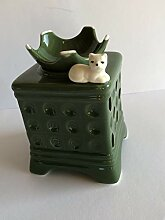 TUPAGo Duftlampe Kachelofen mit Katze grün