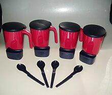 Tupperware Allegra Becher 4x Henkelbecher mit