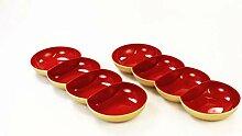 Tupperware Allegra Perle rot Gold Servierschale