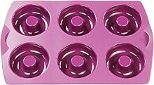 TUPPERWARE Backen Silikonform Donut/Bagel lila