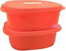 Tupperware® CrystalWave 2X 500 ml lachs-rot