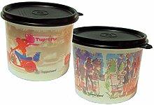Tupperware Izak Design 2 1/2 Becher Snackdosen Set