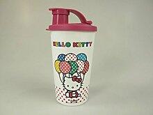 TUPPERWARE Kinder Trinkbecher 330 ml weiß pink