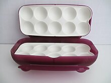 TUPPERWARE Kühlschrank Eierbox lila Eier Box