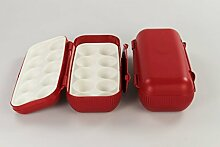 TUPPERWARE Kühlschrank Eierbox rot (2) Eier Box