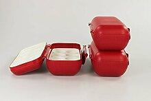 TUPPERWARE Kühlschrank Eierbox rot (3) Eier Box