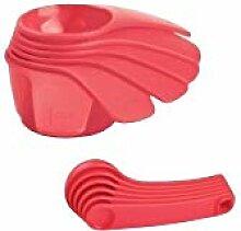 TUPPERWARE Messbecher und Löffel Set Flamingo Pink