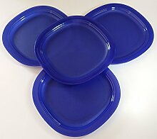 TUPPERWARE Mikrowelle Luncheon Teller in Tokio blau