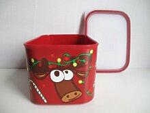 TUPPERWARE Quadro 1,3 L rot Weihnachtsbox A151 Box Rentier Vorratsdose Ultimo