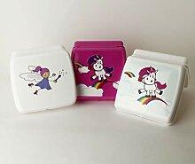 TUPPERWARE  Sandwich-Box weiß Zauberer Pausenbox Brotbox