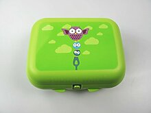 TUPPERWARE To Go Twin grün Eule Brotdose Box