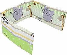 TupTam Babybett Kopfschutz Kurz Gemustert, Farbe:
