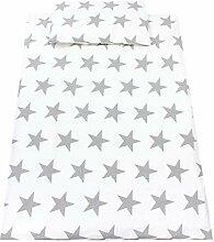 TupTam Kinder Biber Bettwäsche 100 x 135 Sterne,