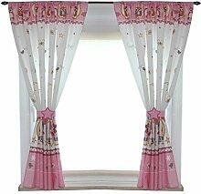 TupTam Kinderzimmer Vorhänge Set mit Zierband und