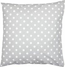 TupTam Kissenbezug Kissenhülle 100% Baumwolle Dekokissen, Farbe: Tupfen Grau, Größe: 40 x 40 cm
