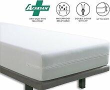 Tural - Wasserdichter und Atmungsaktiver Anti-Milben-Matratzenbezug. Größe 135x190/200cm Matratzenschoner/Matratzen-Auflage