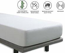 Tural - Wasserdichter und Atmungsaktiver Matratzen-Auflage. Frottee aus 100% Bambus. Größe 80x190/200cm - Matratzenschoner