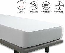 Tural - Wasserdichter und Atmungsaktiver Molton-Matratzen-Auflage. Gewebe aus 100% Baumwolle. Größe 140x190/200cm - Matratzenschoner