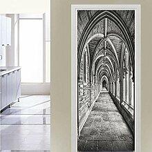 Turaufkleber Türtapete 3D Korridor Raum